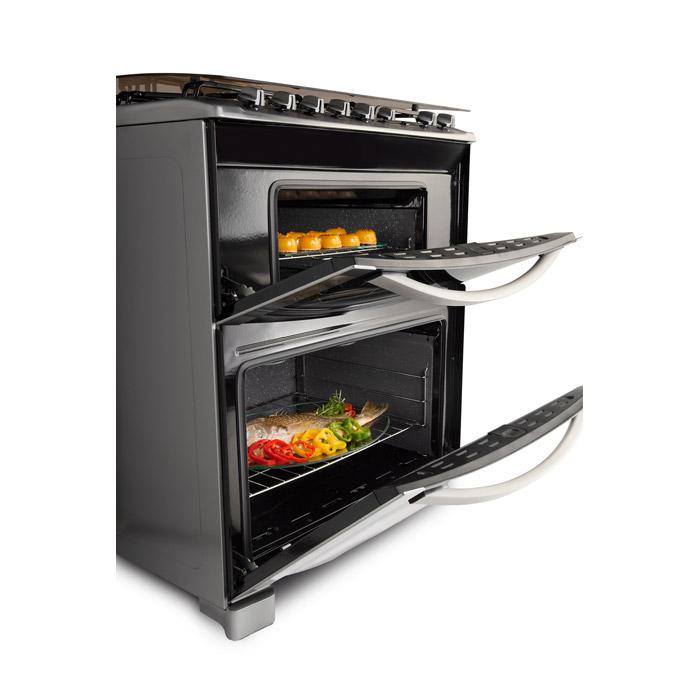Electrolux cocina doble horno 76dtx 5 hornallas inox for Hornos de cocina